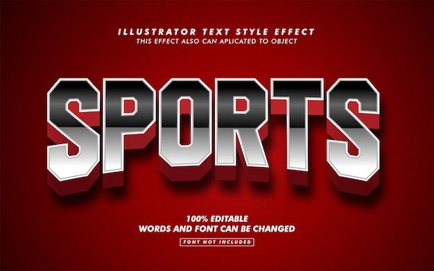 Maqueta de efecto de estilo de texto deportivo audaz