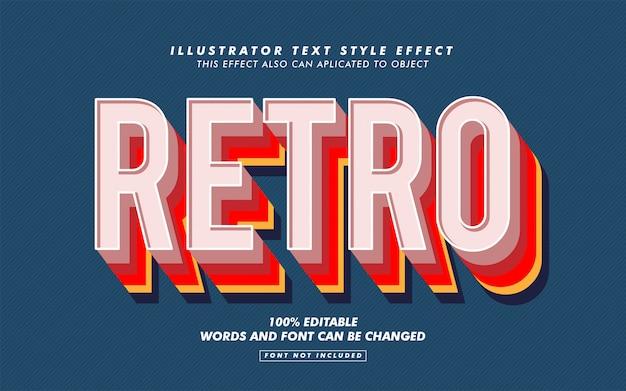Maqueta de efecto de estilo de texto retro