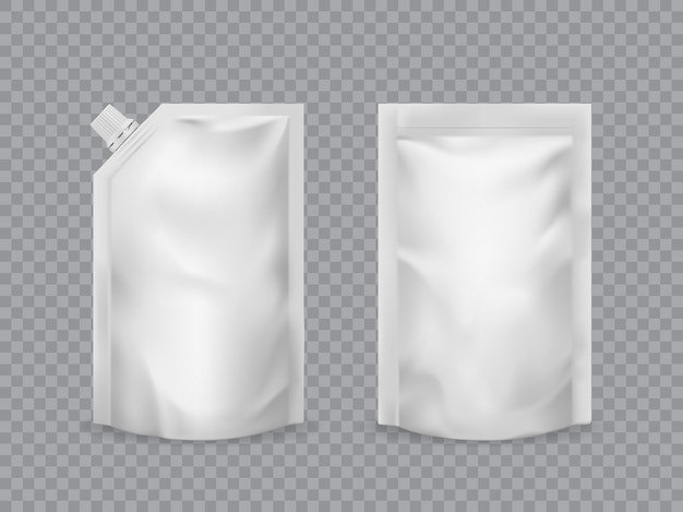 Maqueta de envasado de alimentos realista de bolsa doypack