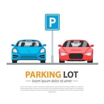 Maqueta de estacionamiento