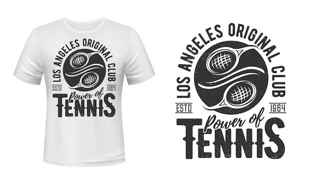 Maqueta con estampado de camiseta de tenis, equipo del club deportivo