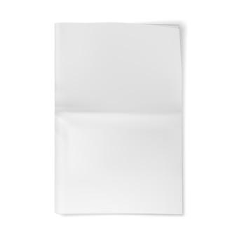Maqueta de hoja de periódico en blanco. diario de papel vacío.