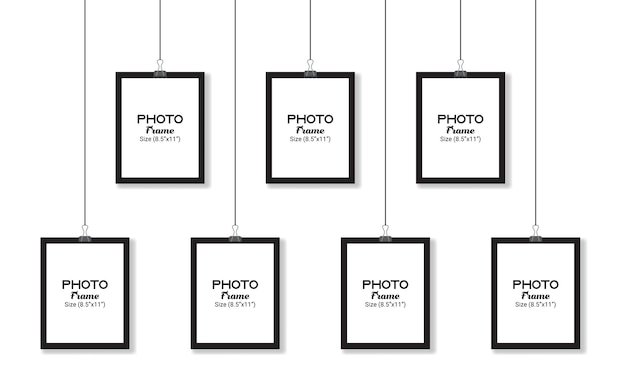 Maqueta de marco de fotos