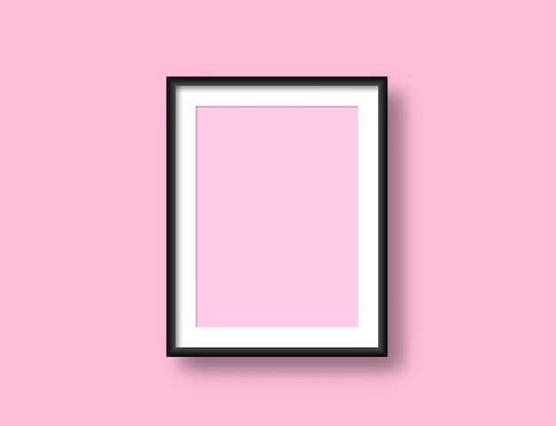 Maqueta de marco de pared realista para su diseño. pintura moderna obra de arte en blanco.