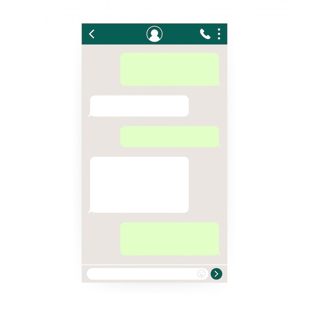 Maqueta de mensajería móvil.
