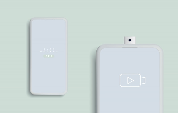 Maqueta minimalista de teléfonos inteligentes modernos