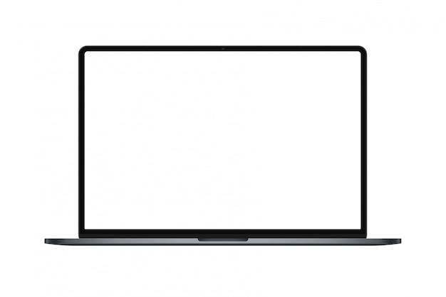 Maqueta moderna para computadora portátil de marco delgado