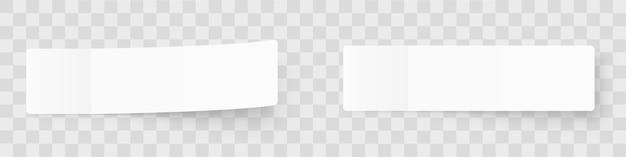 Maqueta de notas adhesivas pealísticas, pegatinas de poste con sombras aisladas sobre un fondo gris.