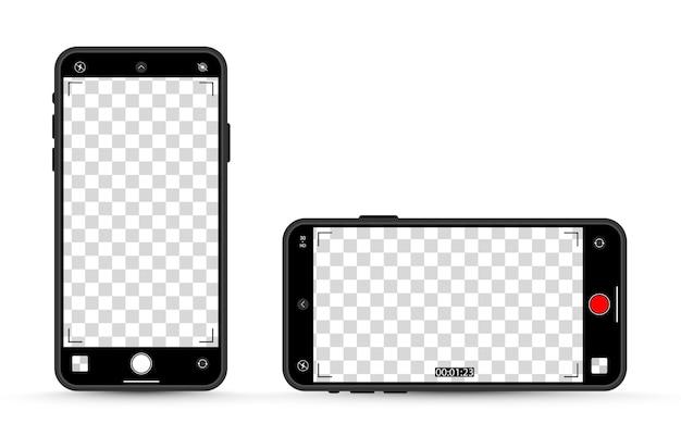 Maqueta de la pantalla del dispositivo sobre fondo transparente