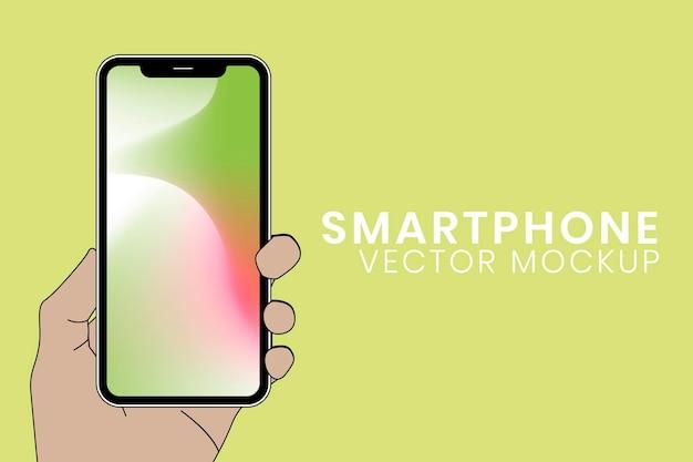 Maqueta de pantalla de teléfono inteligente, ilustración de vector de dispositivo digital