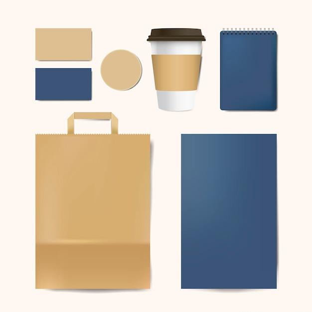 Maqueta de papel de marca