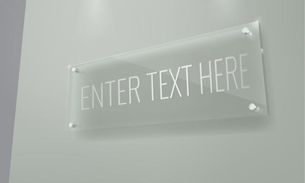 Maqueta de placa de vidrio
