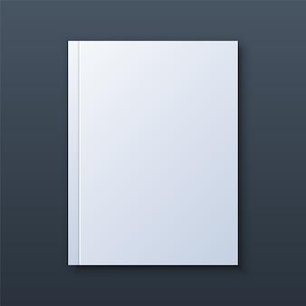 Maqueta de portada de libro en blanco