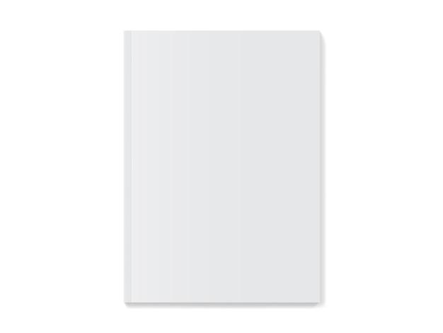 Maqueta de portada de revista blanca
