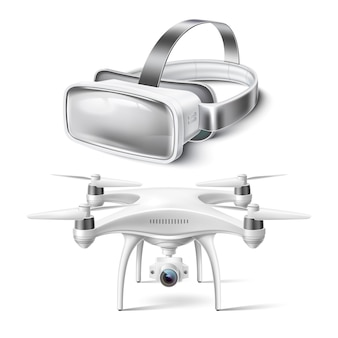 Maqueta realista de casco de realidad virtual