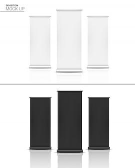 Maqueta realista rollup xbanner display