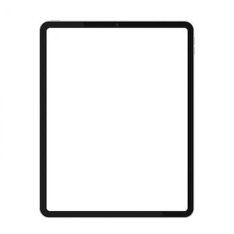 Maqueta realista de tableta de marco delgado