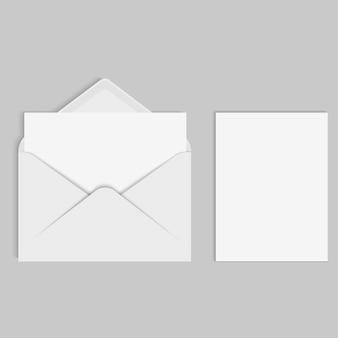 Maqueta realista de vector para carta o tarjeta de invitación