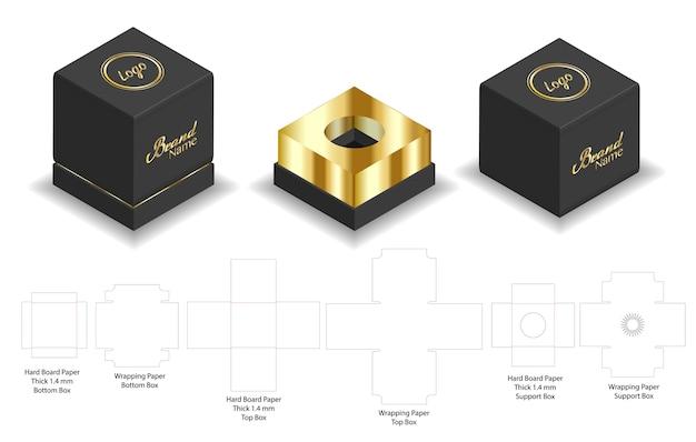 Maqueta rígida de papel rígido 3d maqueta rígida con dieline