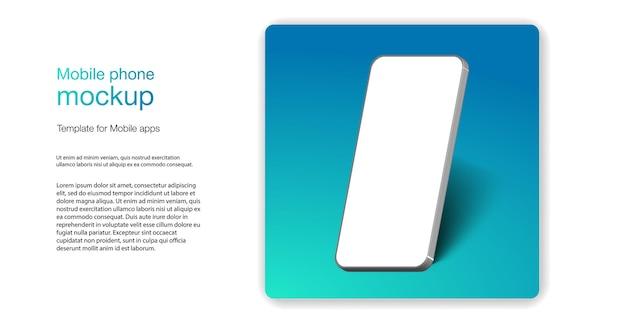 Maqueta de smartphone realista. teléfono móvil moderno con pantalla en blanco, teléfono móvil en diferentes ángulos de visión. marco de teléfono móvil con plantillas aisladas de pantalla en blanco. plantilla para el sitio actual