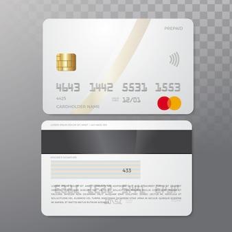 Maqueta de la tarjeta de crédito