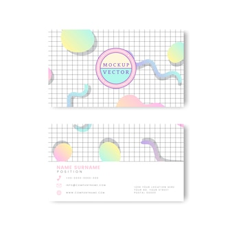 Maqueta de tarjeta de nombre pastel