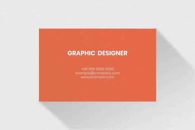 Maqueta de tarjeta de visita simple en tono naranja