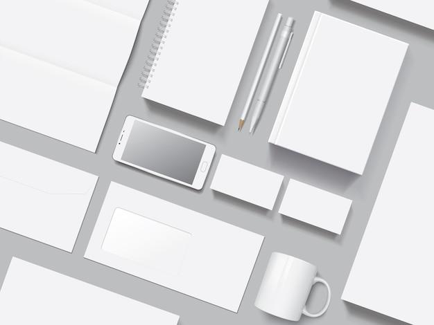 Maqueta de vector de identidad corporativa