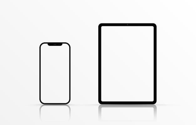 Maqueta de vector de pantalla maqueta de monitor de teléfono inteligente con pantalla en blanco png