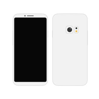 Maqueta de vector de smartphone sin marco moderno. smartphones modernos de estilo abstracto. maqueta de vector aislado en blanco
