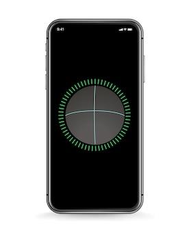 Maqueta de vector de smartphone moderno. plantilla de identificación