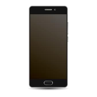 Maqueta de vector de teléfono inteligente. plantilla móvil negra