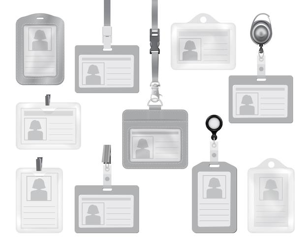 Maquetas de tarjetas de identificación para web