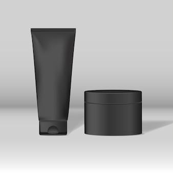 Maquetas de tubos y tarros cosméticos