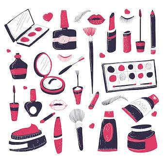 Maquillaje cometas para salonet de belleza de productos