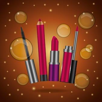 Maquillaje de cosmeticos