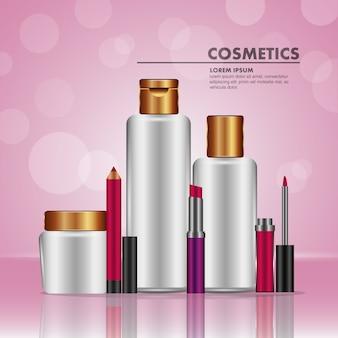 Maquillaje labial crema de aceite de tóner y cosméticos lápiz labial