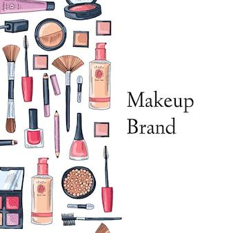 Maquillaje tarjeta de marca