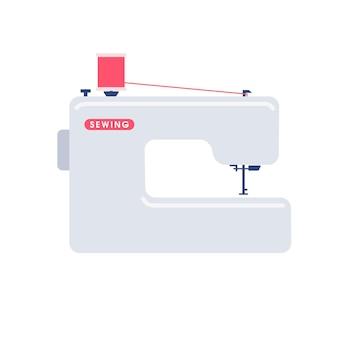 Máquina de coser atrás