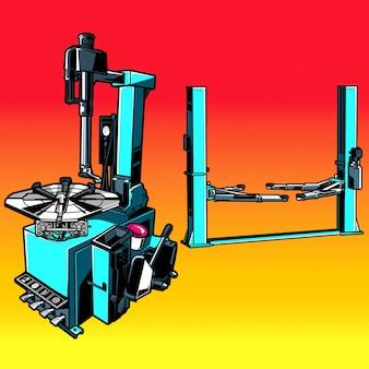 Máquina de extracción de neumáticos