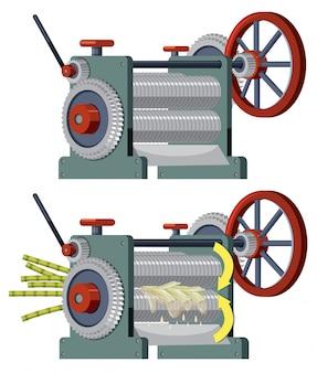 Máquina extractora de caña de azúcar.