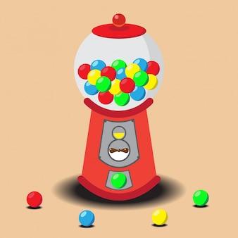 Máquina de gumball llena