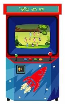 Máquina de juego para contar números en blanco
