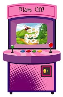 Máquina de juego para contar números sobre fondo aislado
