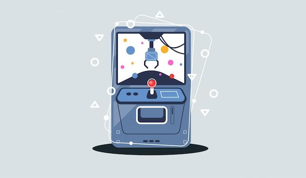 Máquina de juego de la grúa de la garra