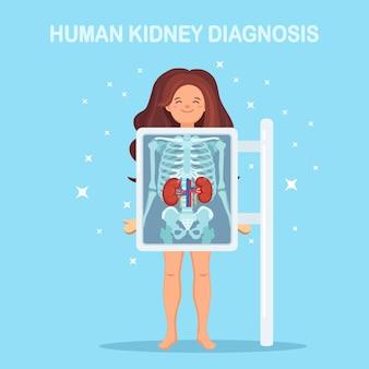 Máquina de rayos x para escanear el cuerpo humano. roentgen del esternón.