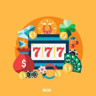 Máquina redonda de casino pockie composición