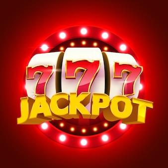La máquina tragamonedas gana el concepto de casino jackpot big win
