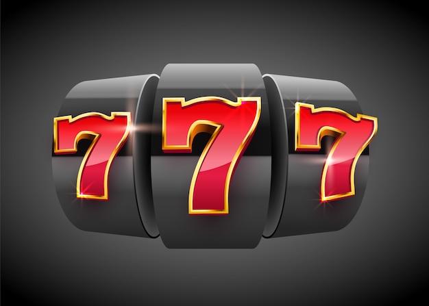 La máquina tragamonedas negra gana el premio mayor. concepto de gran ganancia. premio mayor del casino.