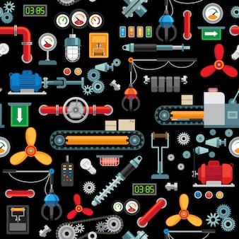 Maquinaria industrial sin patrón.